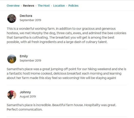 farmstay reviews