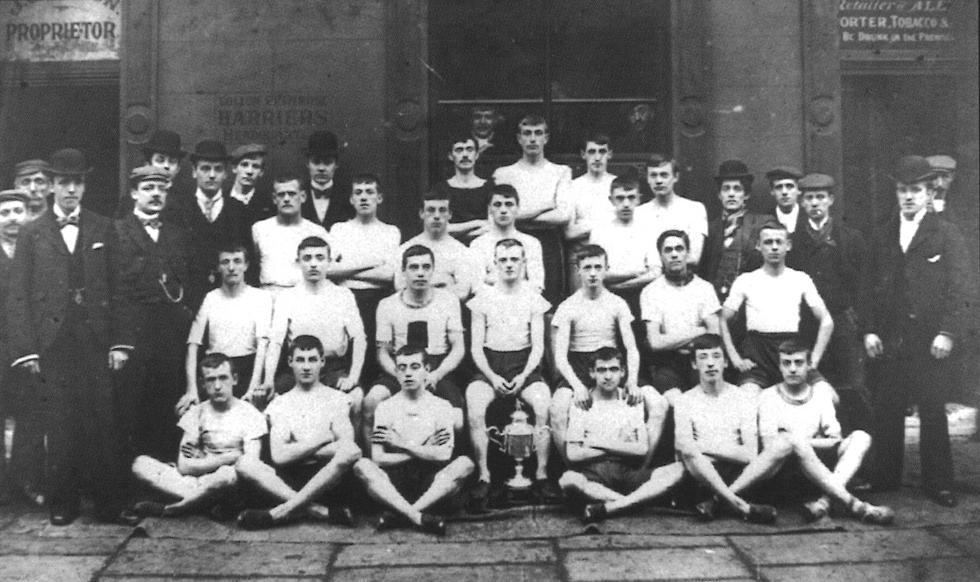 Участники бегового клуба Primrose Harriers, рубеж XIX-XX веков