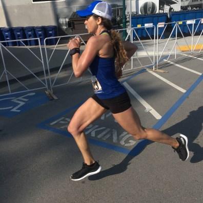 Sarah Tapia charging in Arete blue