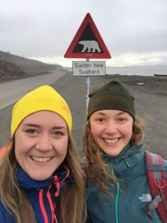 Me and Trine on Svalbard