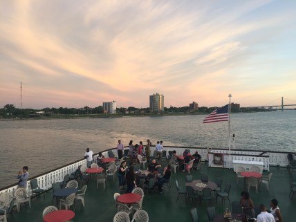 """On the """"Detroit Princess"""" river boat"""