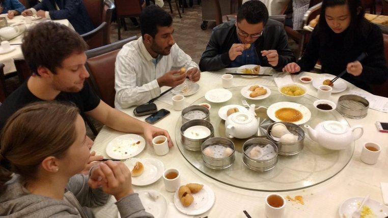 RULA students enjoying a dim sum breakfast at East Gourmet Seafood in New Taipei (Rosemead, CA)