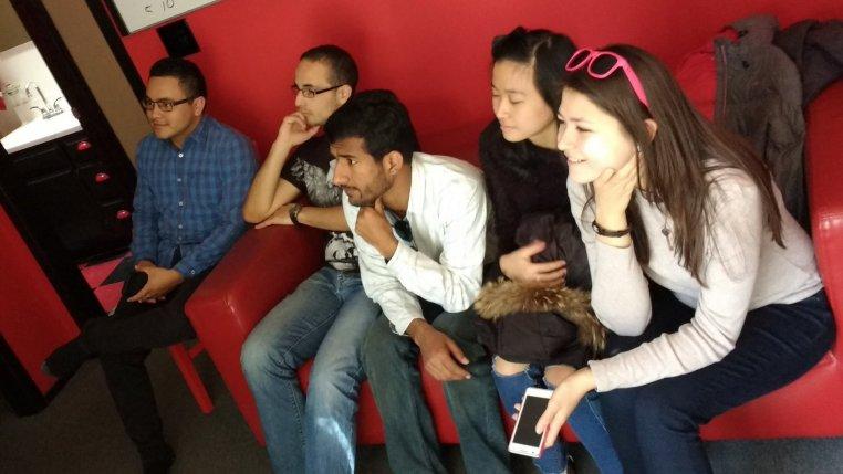 Sagar Kumar Katija, Mammetmyradova Aylar, Jimmy Ramos, Zeroual Mehdi & Aik Yin Chien sitting on a long couch