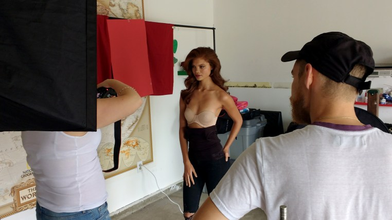 Tamara Williams photographing model Carmen Lee Solomons from Cape Town, South Africa