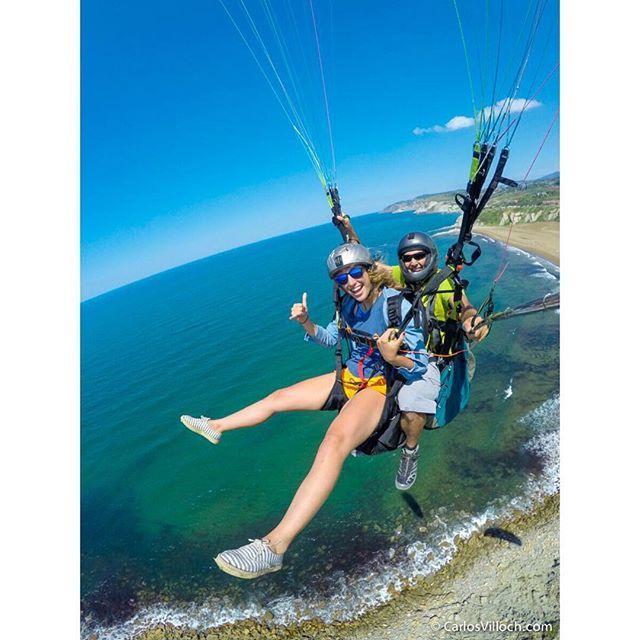 Marina Villoch parasailing