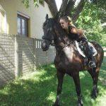 Dorka Nagy riding a horse!