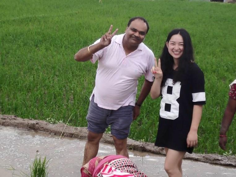 Kamal & friend in a field