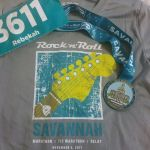 I was one of 15,000 runners in the 2017 Rock N Roll Savannah Half Marathon. New personal course record. Chest cold and heat be damned.