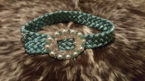 dog collar teal