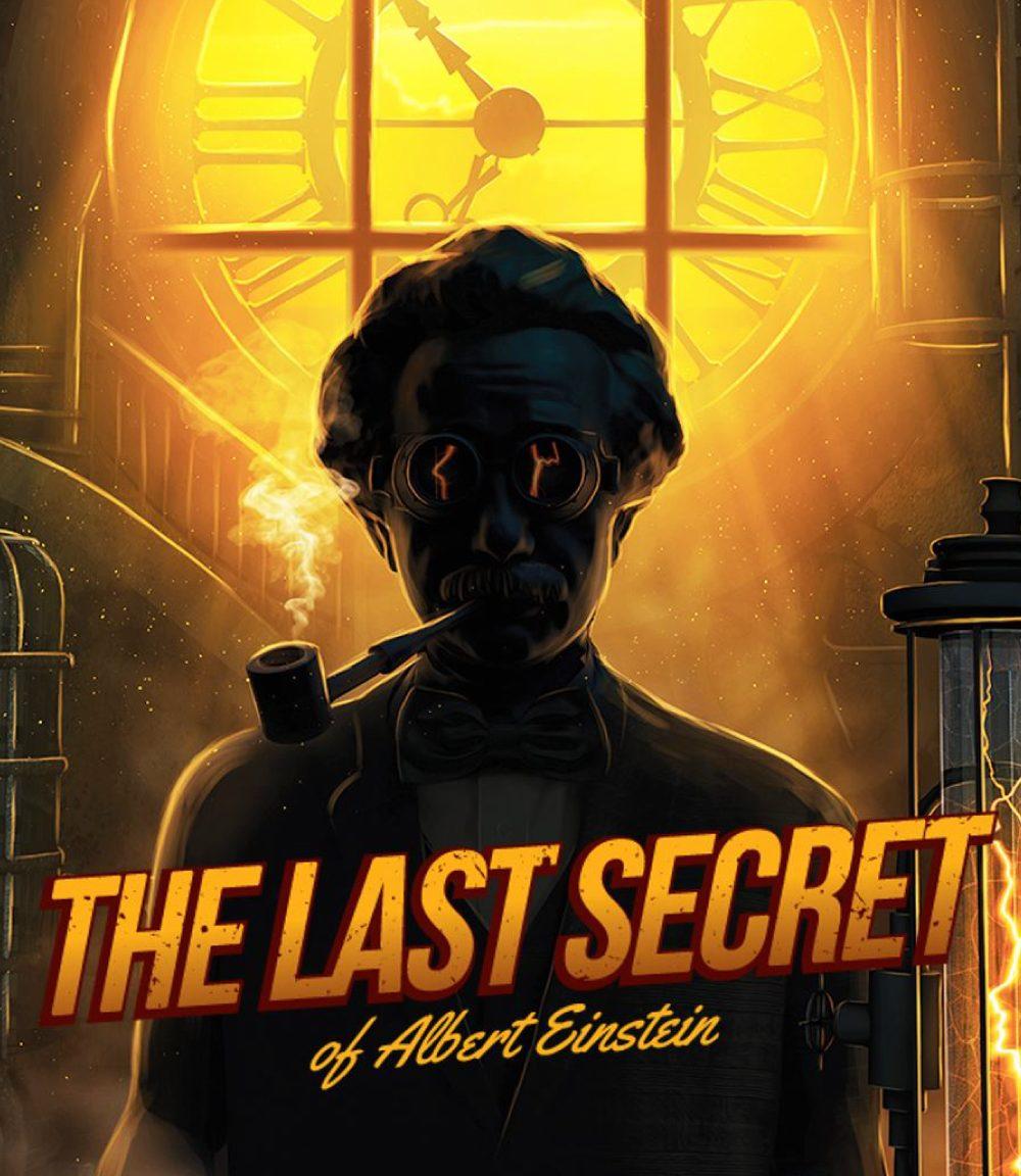 Pakopeli mainoskuva ja teksti: The Last Secred of Albert Einstein