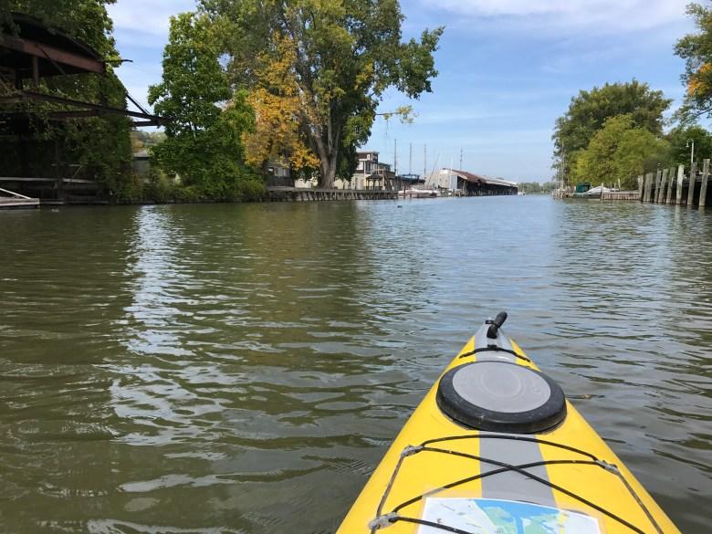 Kayak on Lake Cayuga, Ithaca