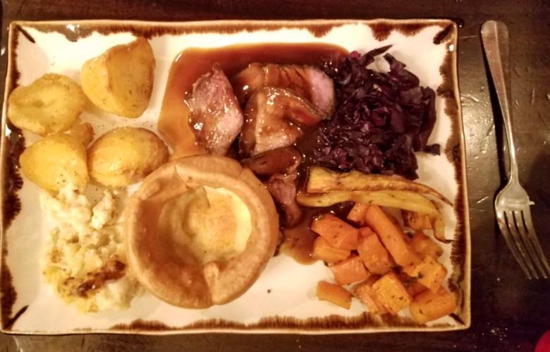 Sunday roast in London pub