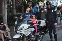 Who got to ride on the course-police motorcycle?!