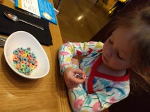 """""""Mom, I'll eat the colored cereal!"""" First time for Fruit Loops!"""