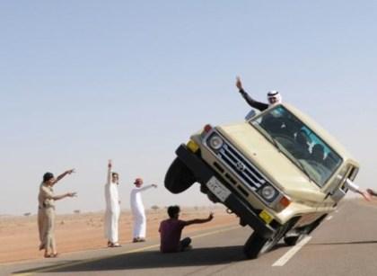 Auto sobre dos ruedas: Ski de acera en Arabia Saudita