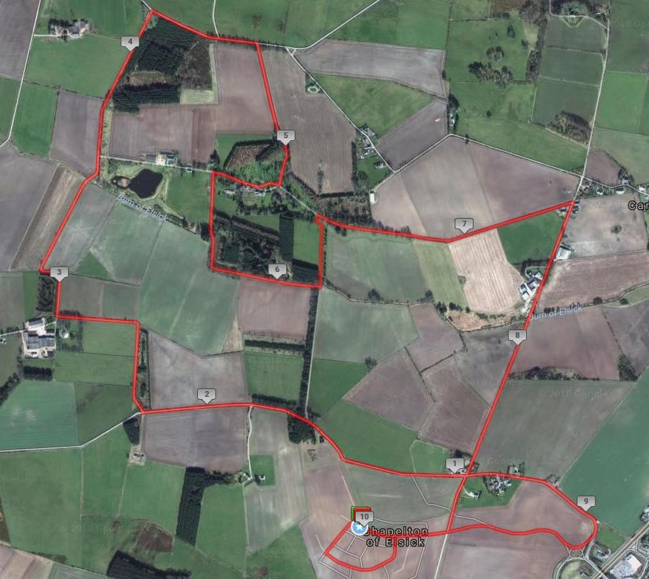 Chapelton 10k Route Map