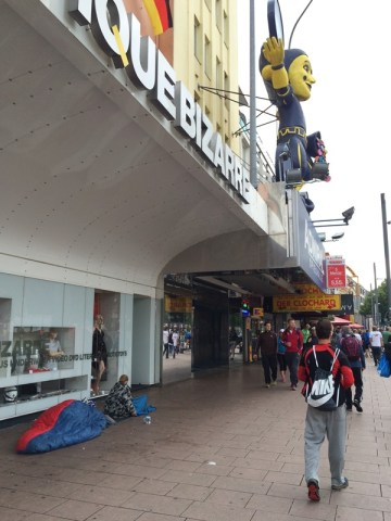 Homeless on Reeperbahn