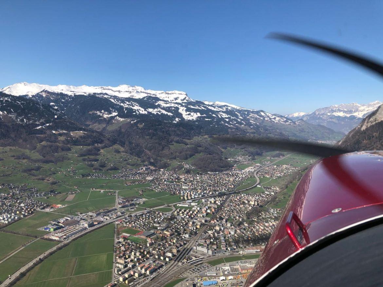 Flug nach Bad Ragaz