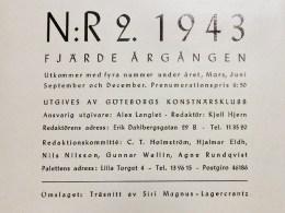 Redaktionsrutan i Paletten nr 2, 1943.