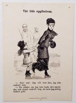 Själv slog jag minsann omkull mig många gånger på isen, men inte vart jag gift för det! Ur Söndags-Nisse, 1881.