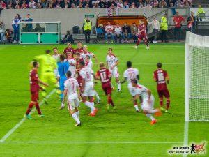 pic041Auch Mitch Langerak (gelber Fleck) brachte offensiv keine Verbesserung. © VfB-Bilder.de