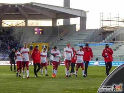 So locker wie Mannschaft und Anzeigetafel suggerieren, war der Sieg nicht. © VfB-Bilder.de