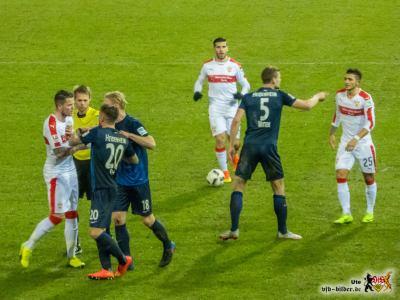 Die Gastgeber gaben sich nicht so einfach geschlagen. Bild: © VfB-Bilder.de