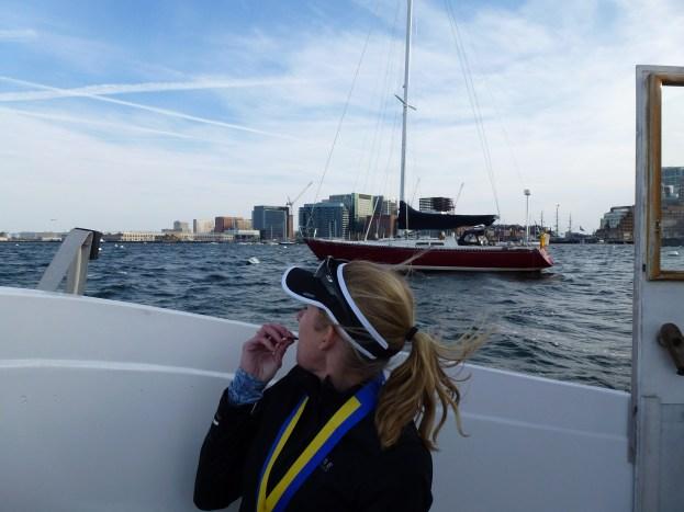 Mes chips bleus, ma médaille et mon bateau !