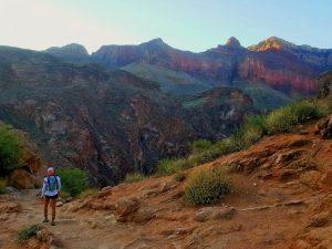 Grand Canyon rim to rim to rim bright angel trail r2r2r ultra running trail runner desert