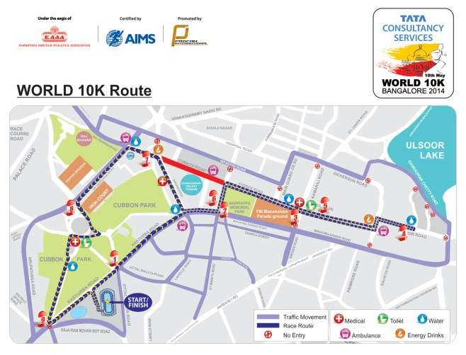 World-10K-Bangalore-Route-Map