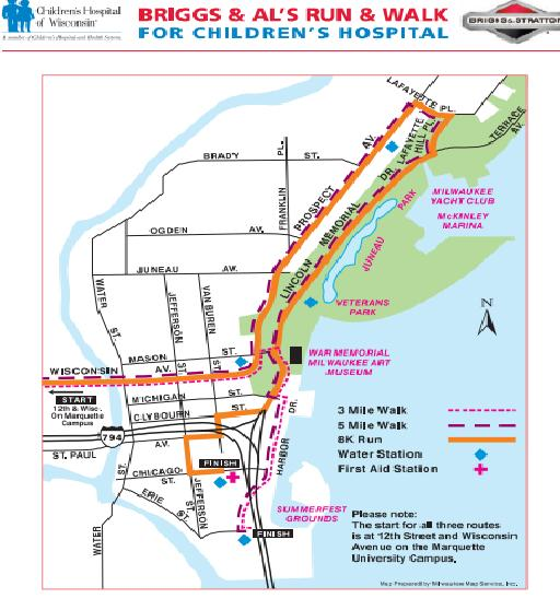 Briggs And Als Run Date Registration Course Route - Summerfest grounds map