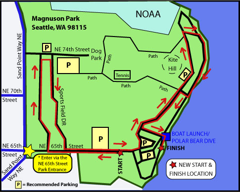 Magnuson Park Seattle Map.Seattle Resolution Run 5k 2014 2015 Date Registration Route Map