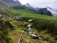 Summerland, where a lot of thru-hikers were chilling in the streams. Hard to leave!