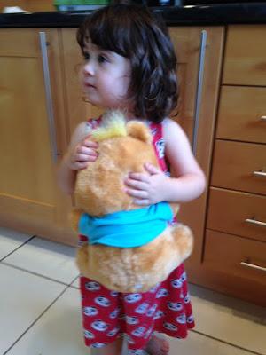 girl with my Freddy bear