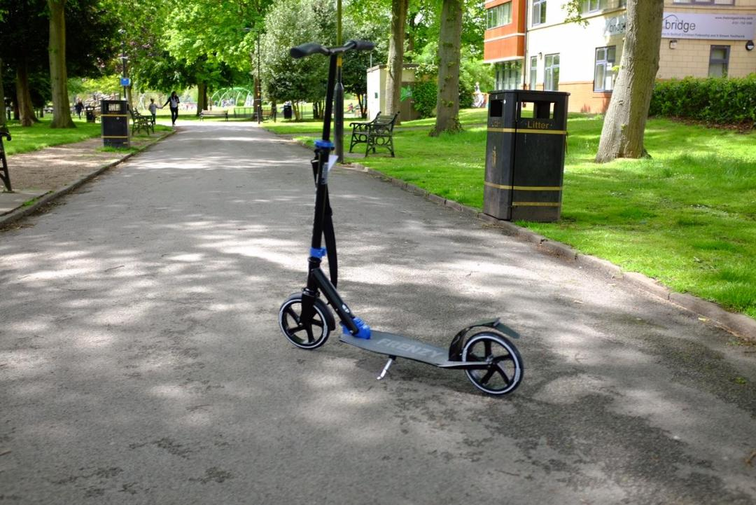 Frenzy adult scooter in the park