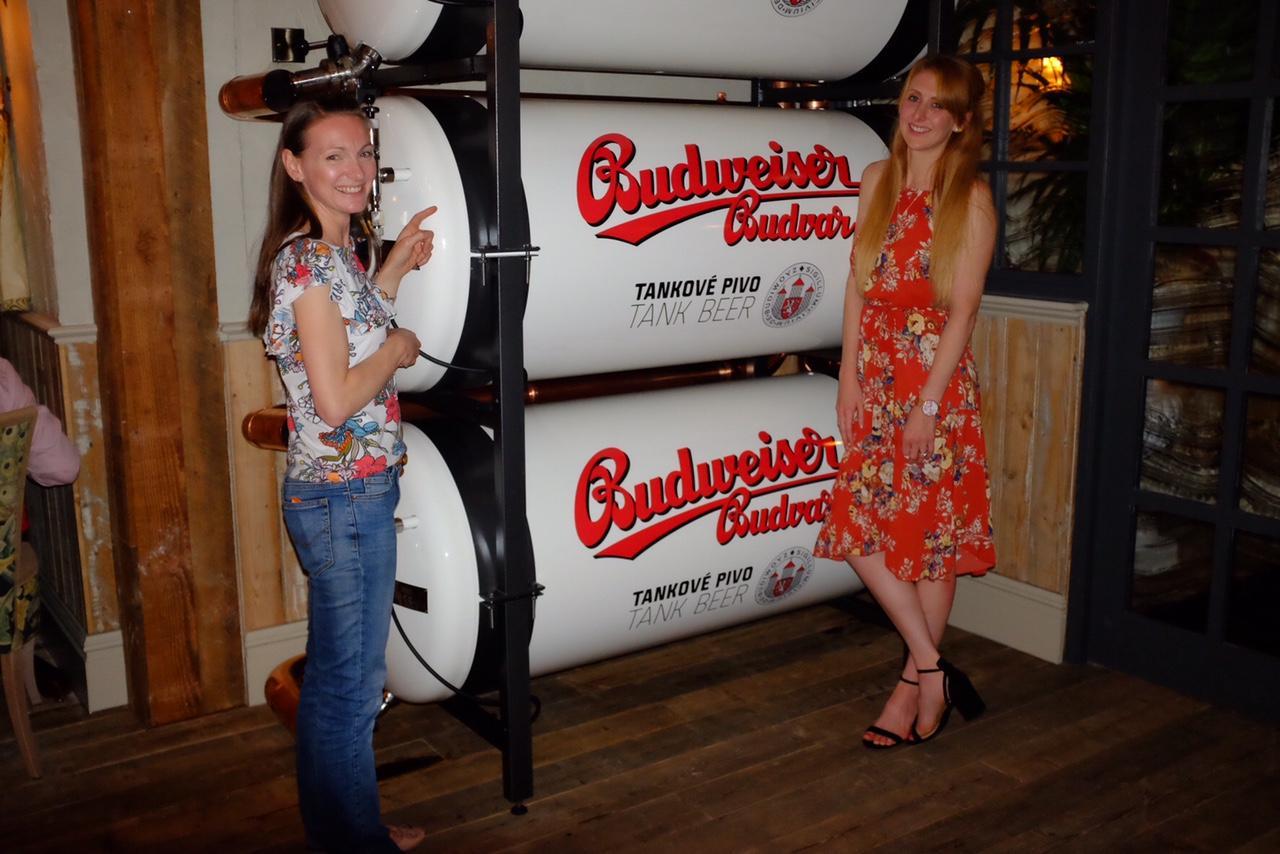 two girls admiring the decor canal house Birmingham
