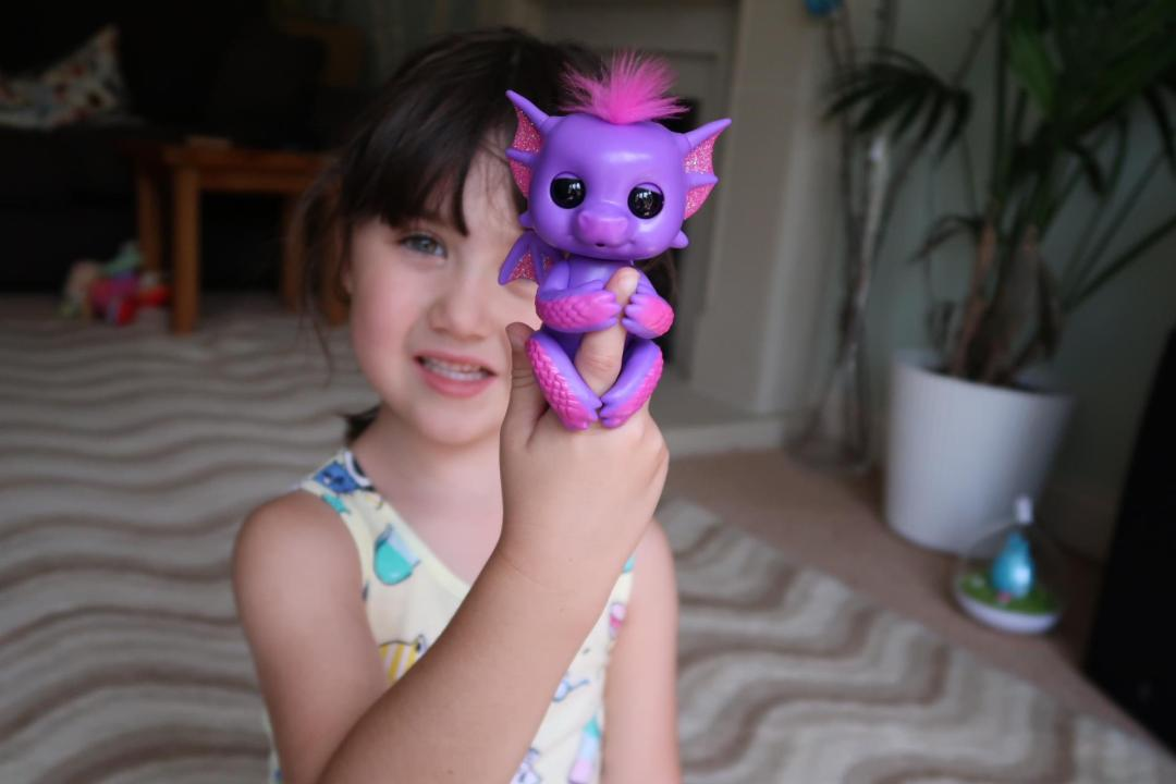 girl with a baby dragon fingerling Kaylin
