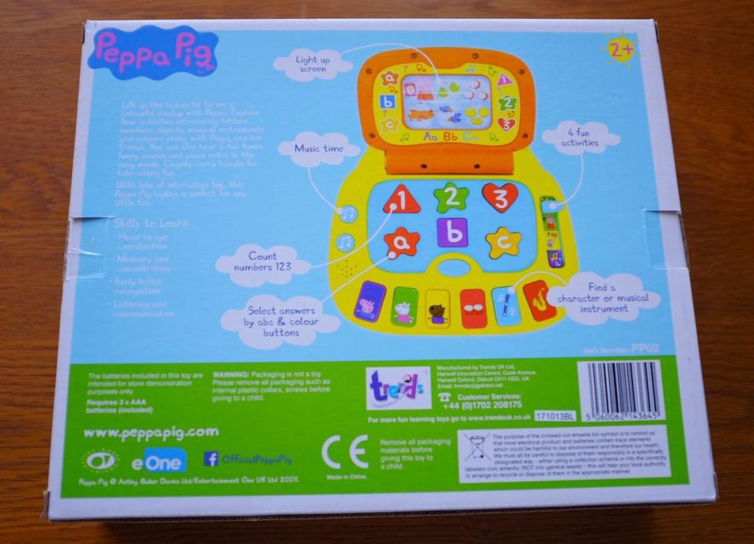 Peppa Pig Laugh and Learn Laptop box