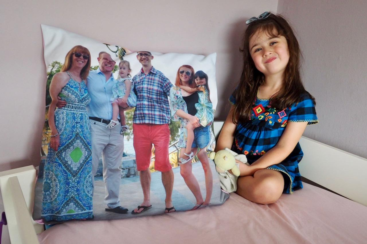 girl with My-Picture.co.uk Personalised Cushion