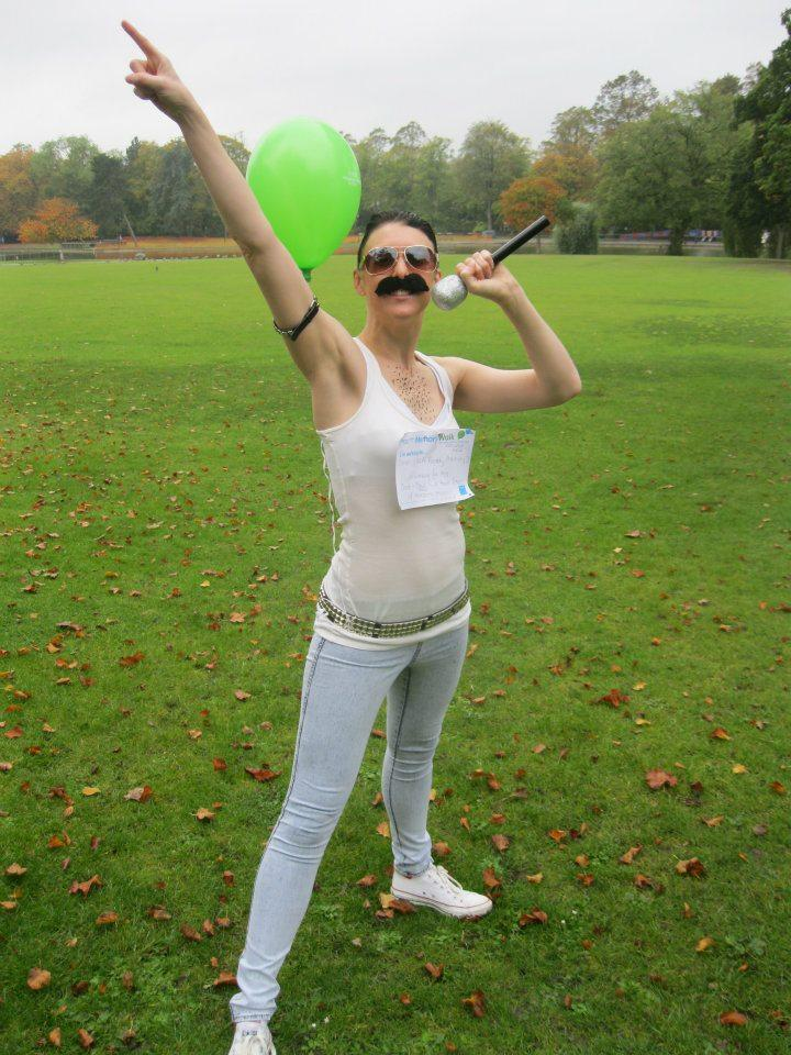 Girl dressed as Freddie bohemian rhapsody