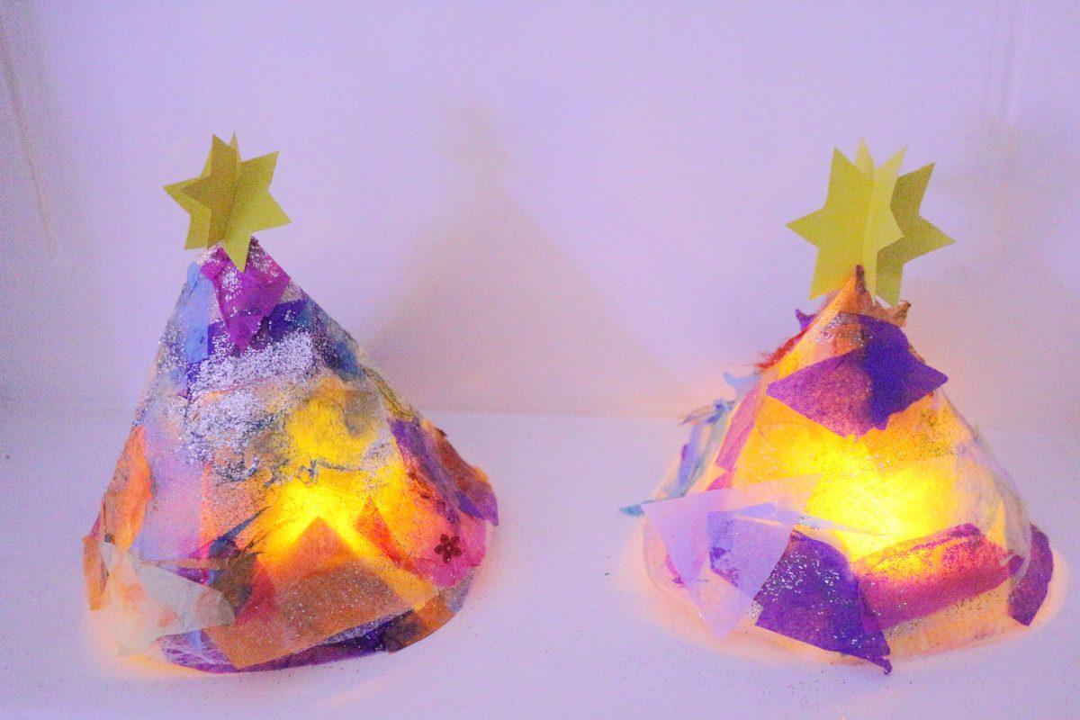 Glowing Christmas Trees