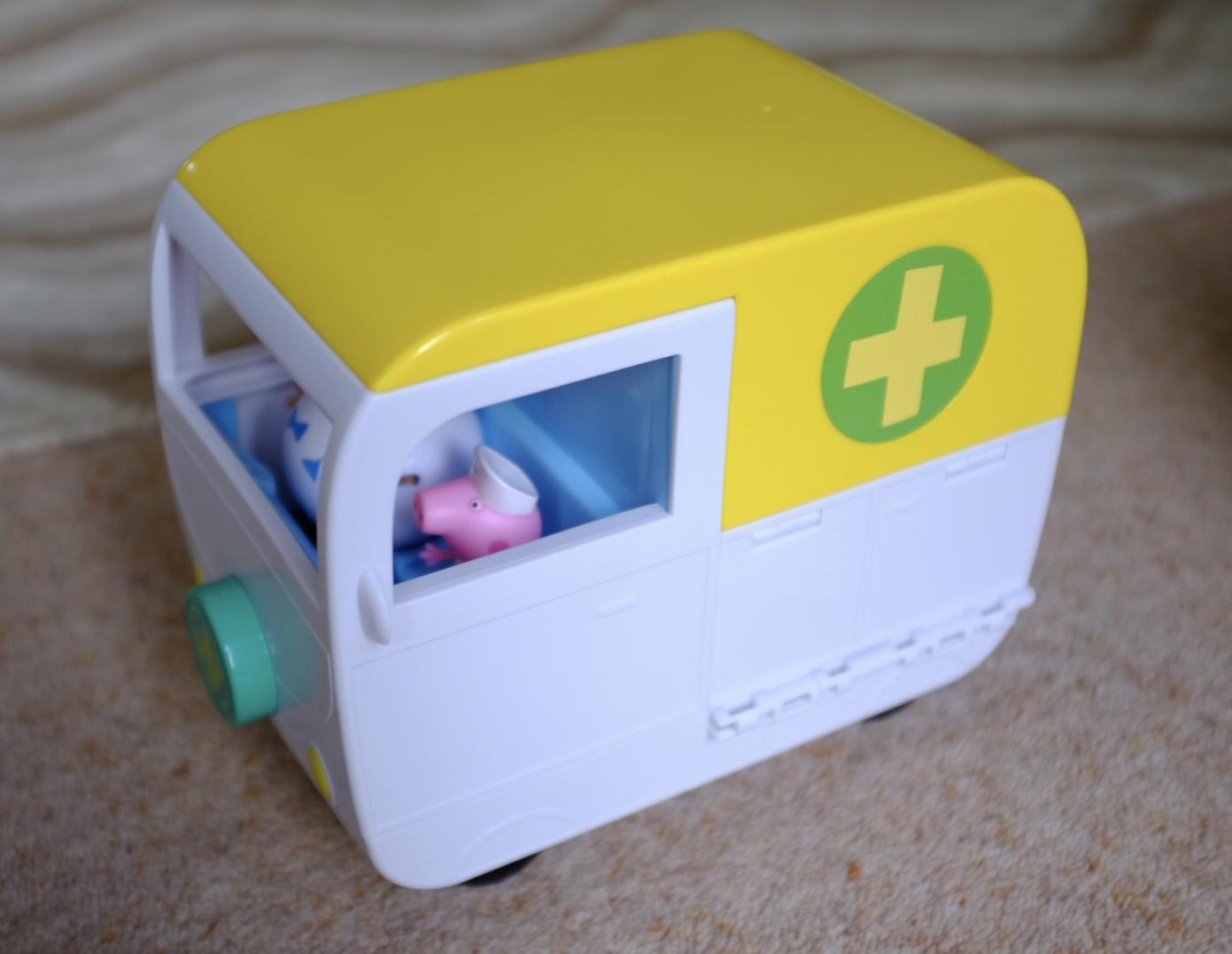 The ambulance in the Peppa Pig Mobile Medical Centre