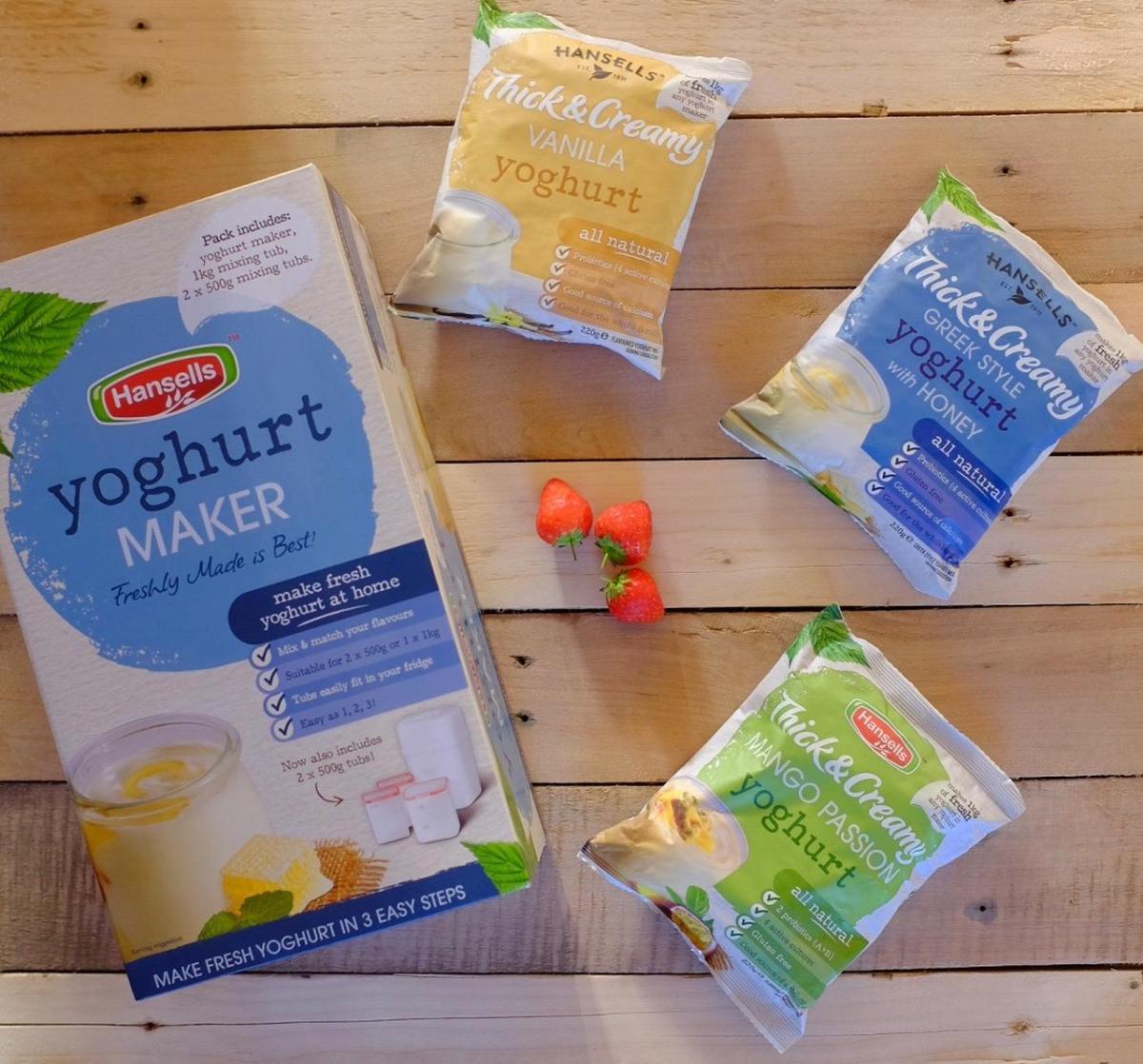 Hansells Yoghurt Maker and packs