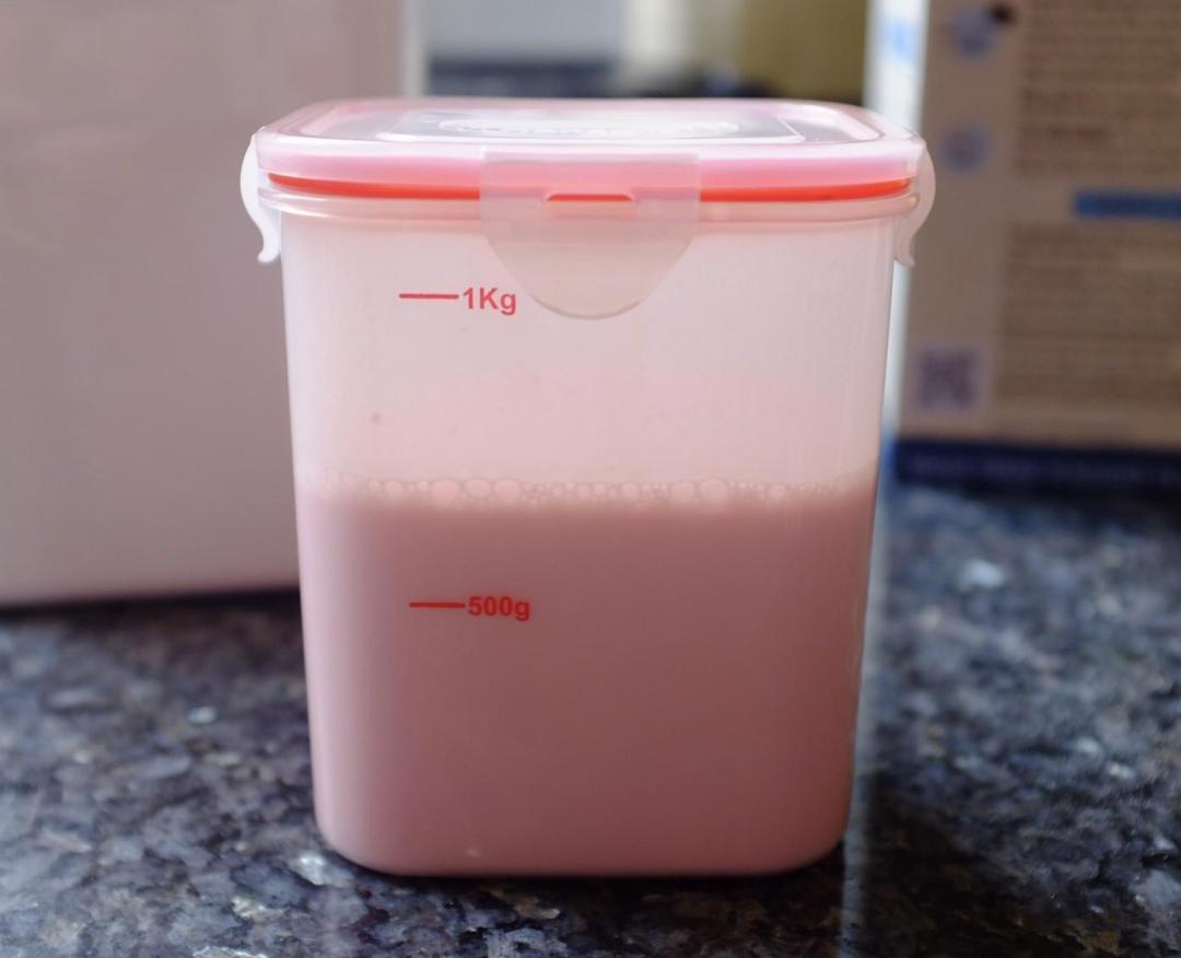 making hansells strawberry yoghurt