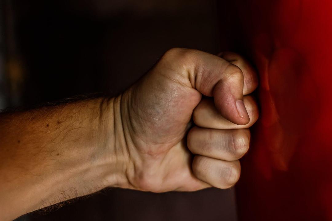 punching a wall