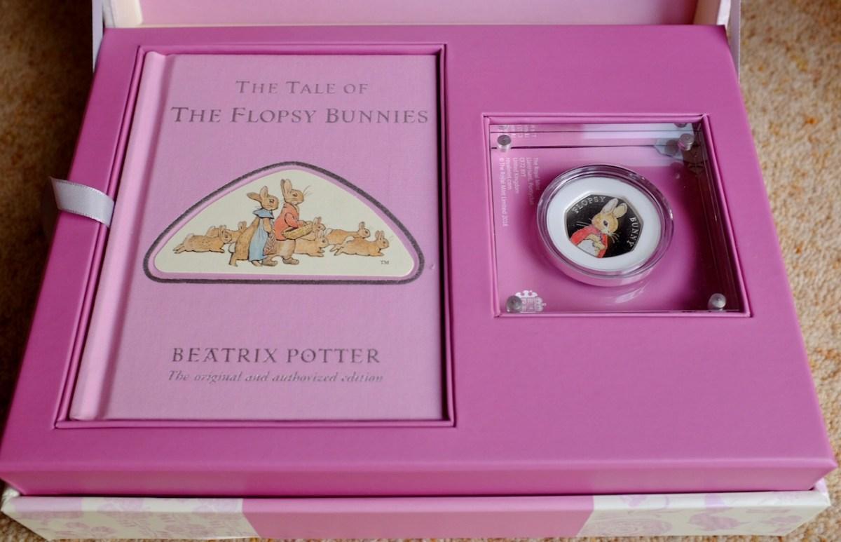 TheFlopsy Bunny™ 2018 UK 50p Silver Proof Coin & Book Gift Set Royal Mint
