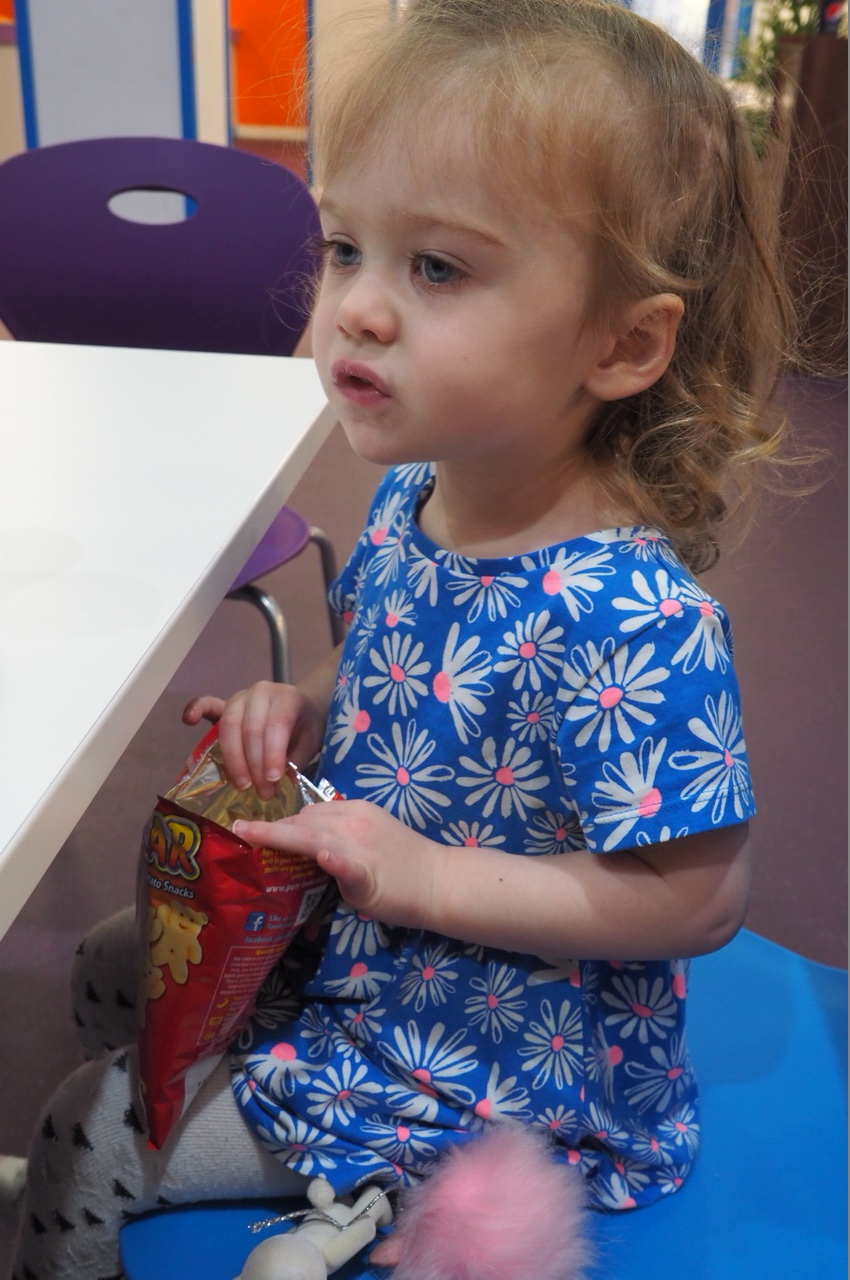 Toddler having a snack Inflatanation Birmingham