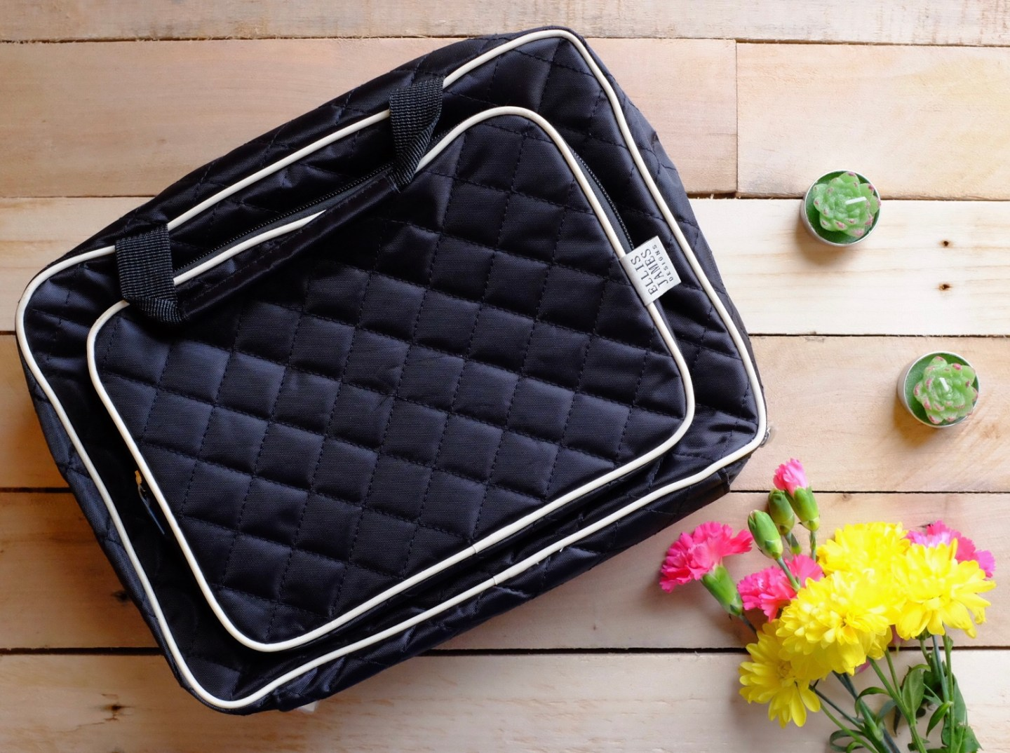 quilted Hanging Toiletry Organiser from Ella James Designs