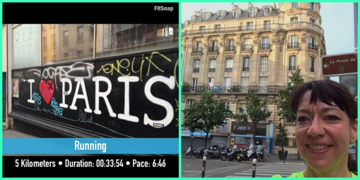 early morning run in Paris