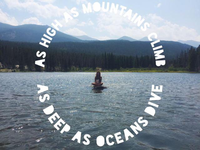as deep as oceans dive